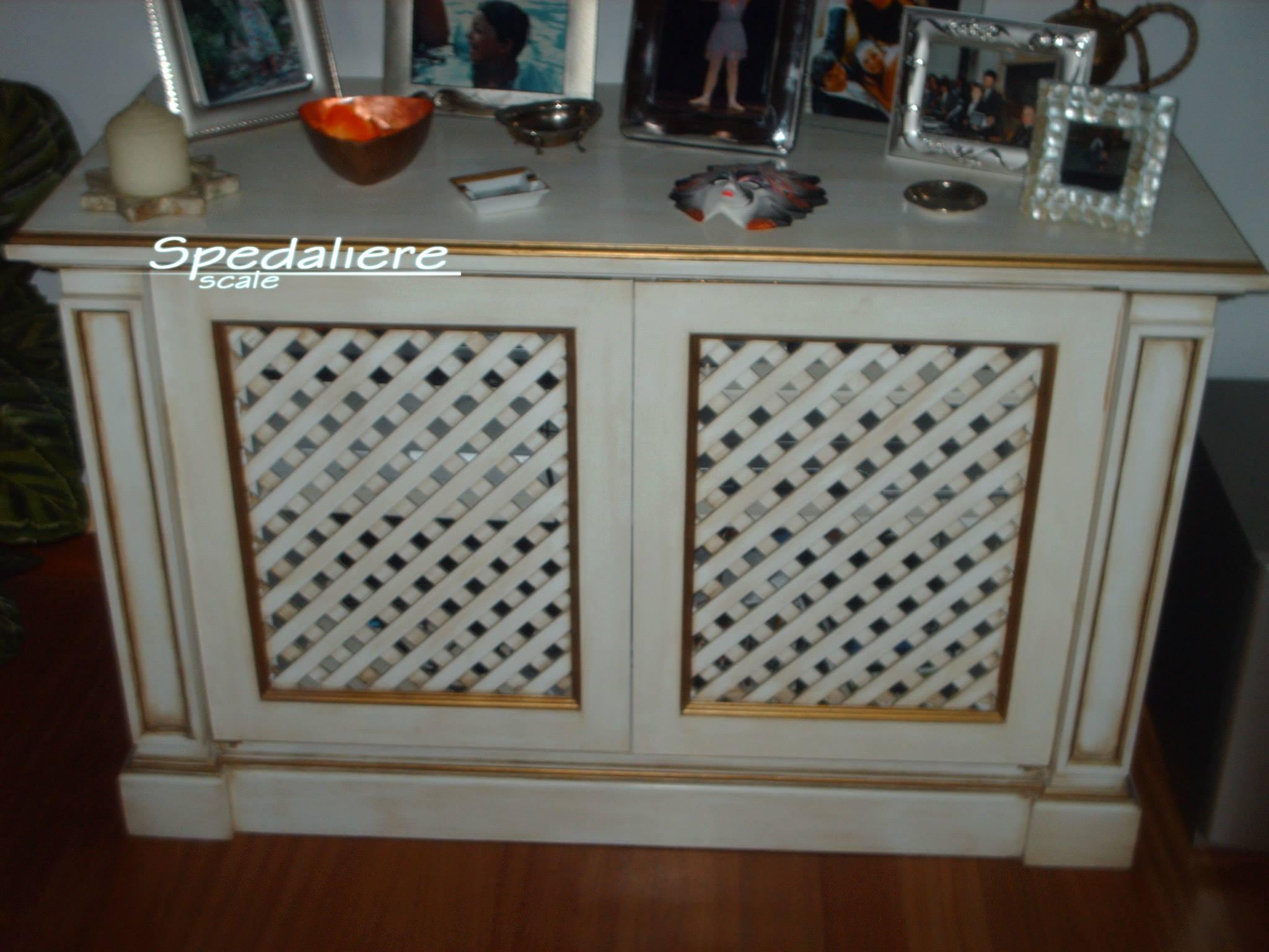 Carabottino in legno bianco con finiture oro