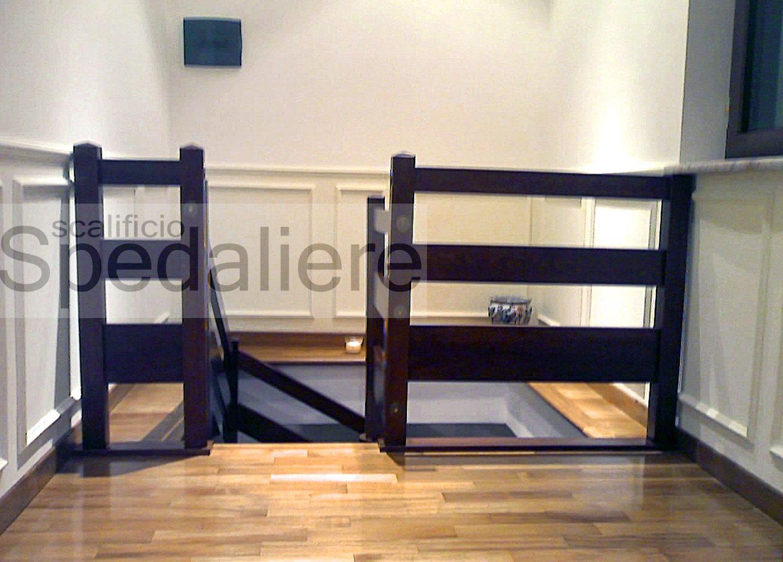 Balaustra modello Procida a Fascioni in legno massello